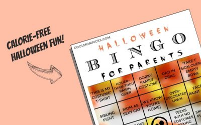 Halloween Bingo for Parents: Just print, fill the card, win fabulous prizes from your child's treat bag!