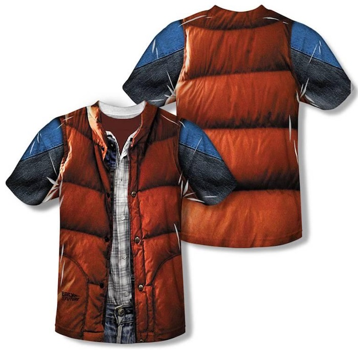 Halloween costume T-shirts: Back to the Future Vest T-Shirt at AllPosters.com
