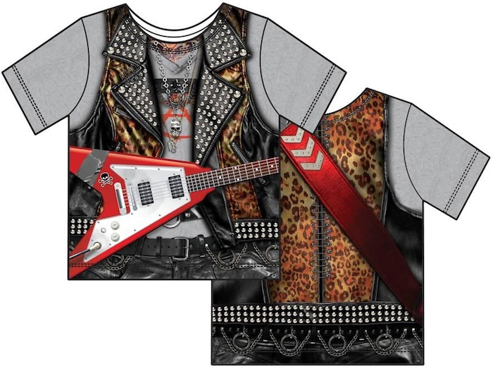 Halloween costume T-shirts: Rock Star Toddler T-Shirt Costume at AllPosters.com