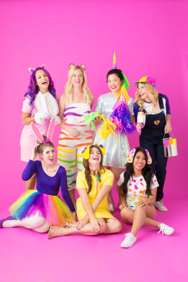Last-minute Halloween costumes for moms: Lisa Frank costumes at Studio DIY
