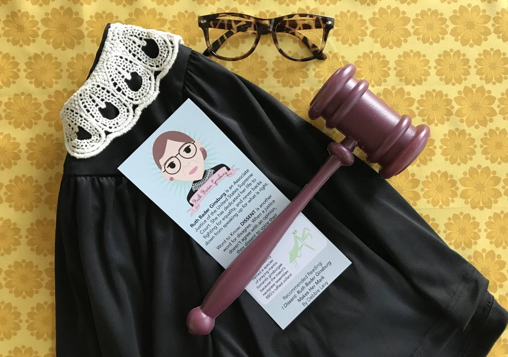 Ruth Bader Ginsburg girls costume from Bored Inc. on Etsy