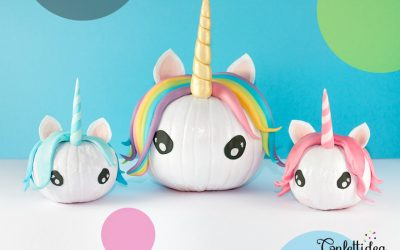 Unicorn pumpkins FTW! The cutest tutorials from around the web
