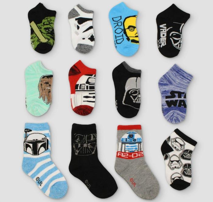 Cool Advent calendars | Star Wars 12 days of socks at Target
