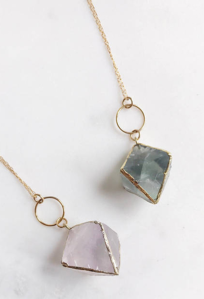 Fluorite healing pendant: Self-care gifts