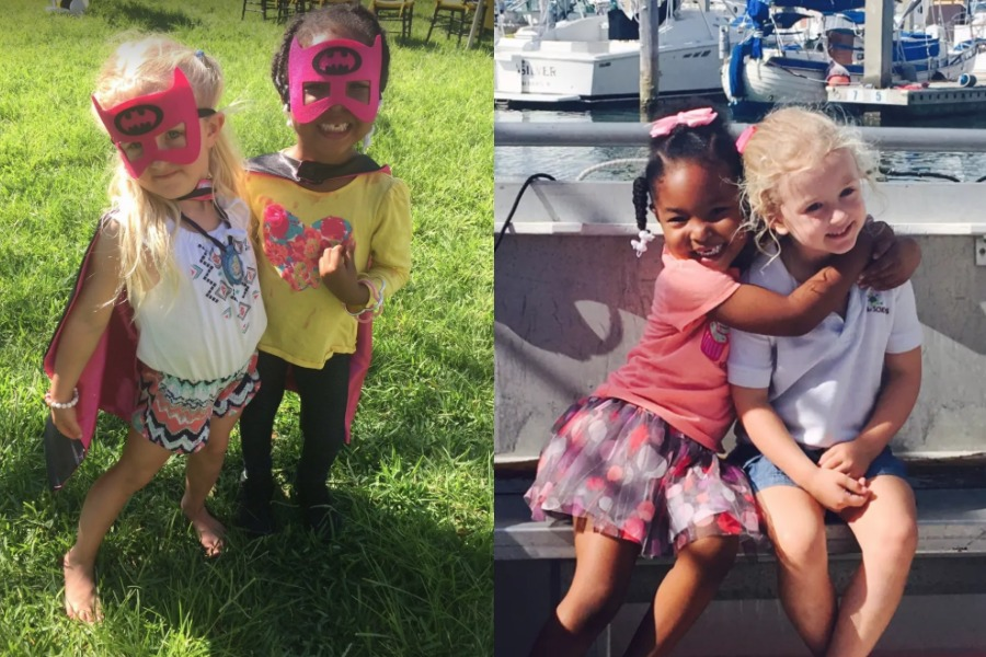 The story of 4 year olds who have decided they are real life twins. Adorable. | Jia Sarnicola + Zuri Copeland via Buzzfeed