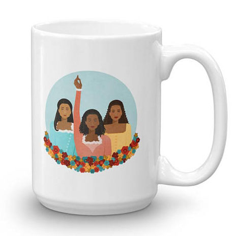 Cool feminist gifts: Schulyer Sisters illustrated mug by the Joyful Fox (with discount code!)