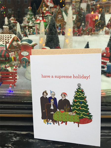 Women's SCOTUS holiday card by the Card Bureau