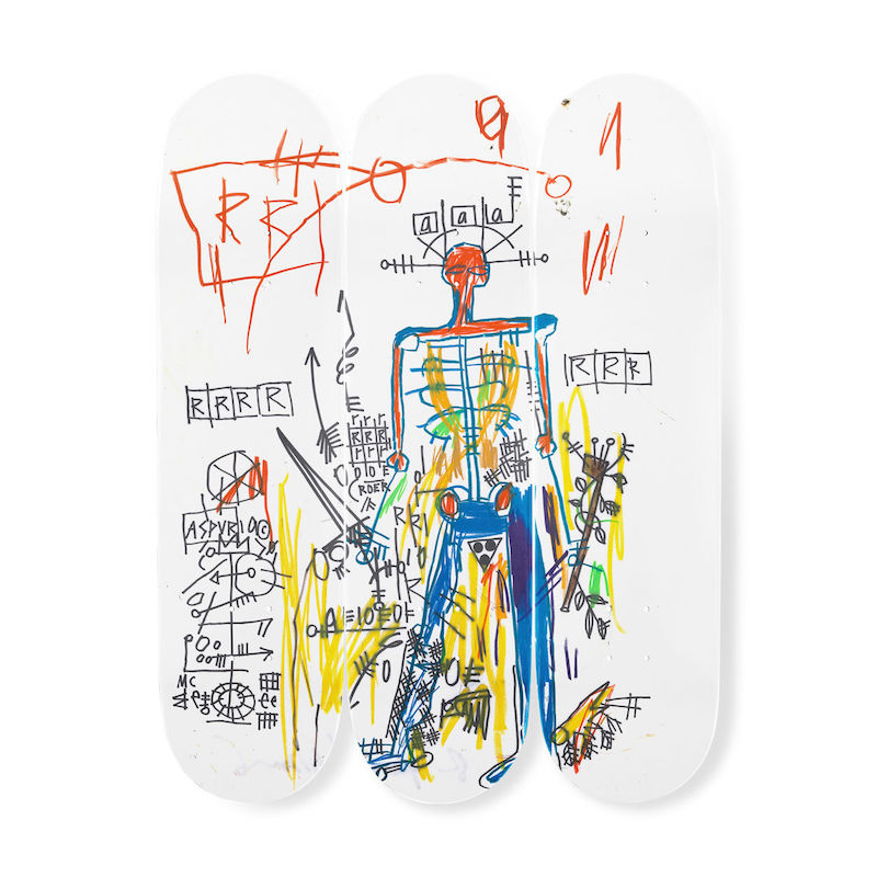 Basquiat modern art: Robot on skateboard triptyque at MoMA Store | Coolest Men's Gifts | 2017 Holiday Gift Guide