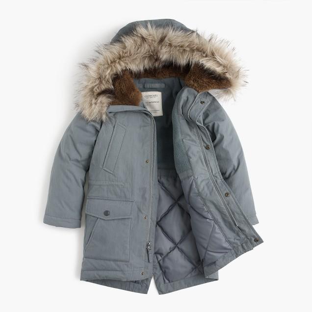 Warmest kids' winter coats: Fishtail Parka by J.Crew