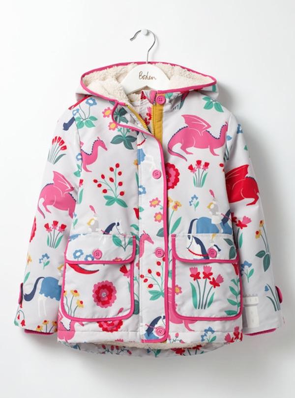 Warmest kids' winter coats: Sherpa-Lined Anorak by Boden