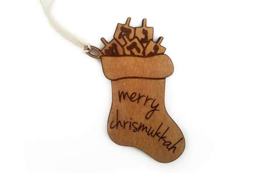 The Chrismukkah ornament for all your interfaith gifting needs.