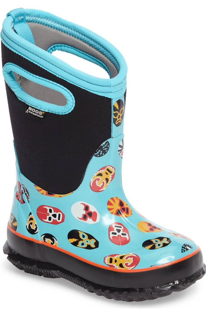 Colorful snow boots for kids: Luchador masks by BOGS