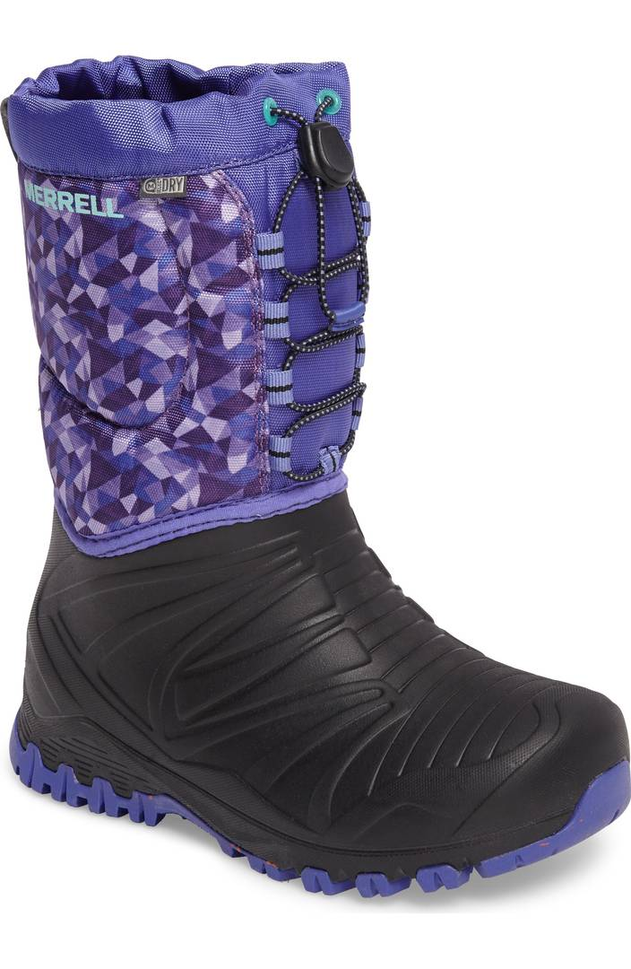 Colorful snow boots for kids: Purple Merrells