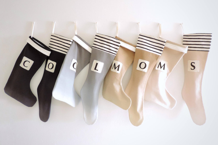 7 of the coolest modern, handmade Christmas stockings on Etsy