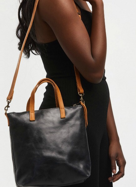 holiday gifts on sale: FashionABLE leather bag supporting artisans in Ethiopia
