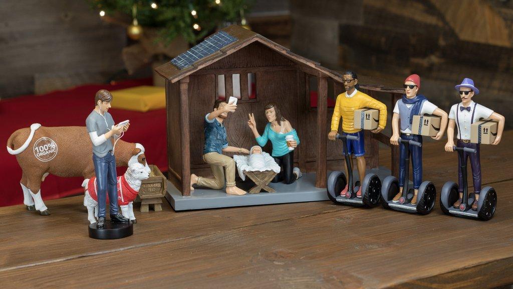 Modern nativity sets: Hipster nativity | Modern nativity