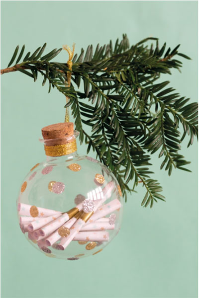 Baby keepsake ornament: Put in a new scroll with a memory each year for 12 years!