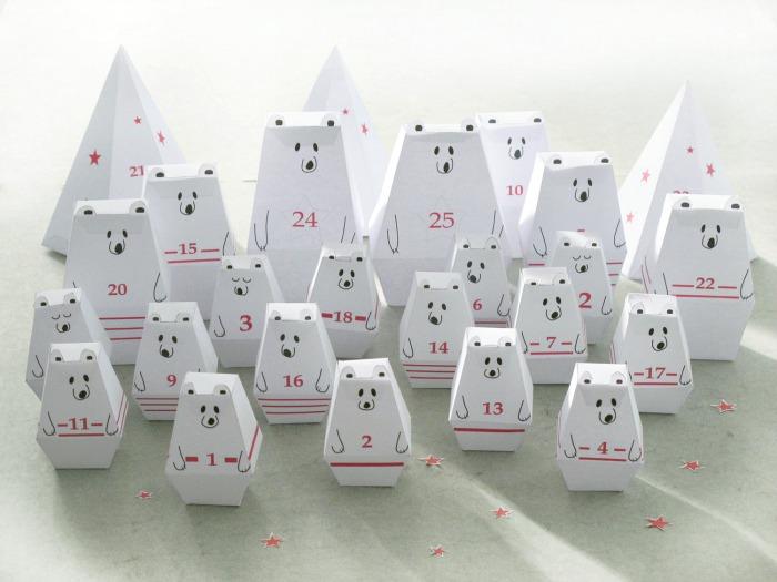 Coolest Advent calendars | printable polar bear Advent calendar