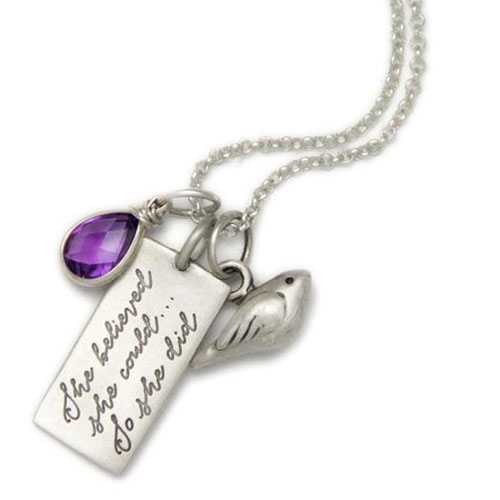 Cool feminist gifts: She Believed She Could… Sterling Charm by Heart & Stone Jewelry