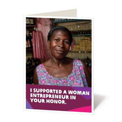 Cool feminist gifts: Tribute gift to support women in all kinds of ways, via CARE