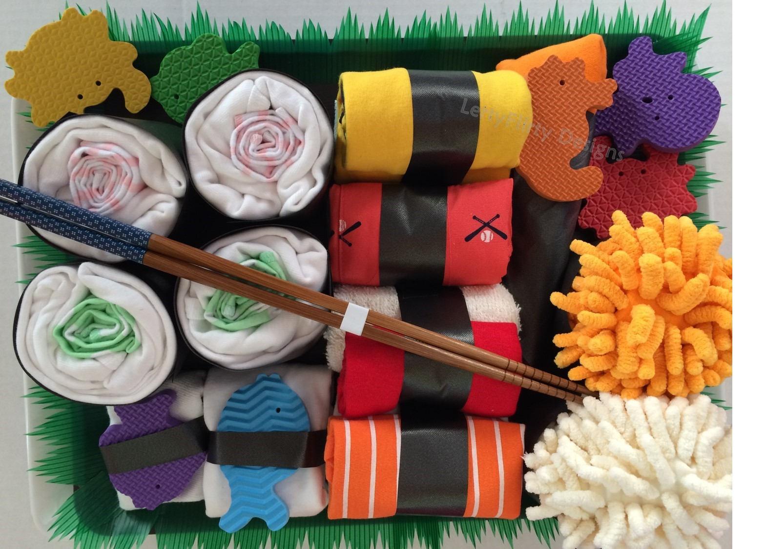 Cool diaper cakes: Sushi diaper cake | Lerty Flirty Designs