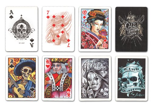 Tattoo playing card set | Coolest Men's Gifts | 2017 Holiday Gift Guide