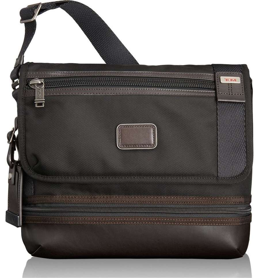 Gorgeous TUMI crossbody messenger bag | Coolest Men's Gifts | 2017 Holiday Gift Guide