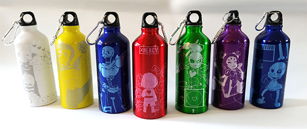 Undertale character sports bottles | The coolest gifts of the year for tweens and teens