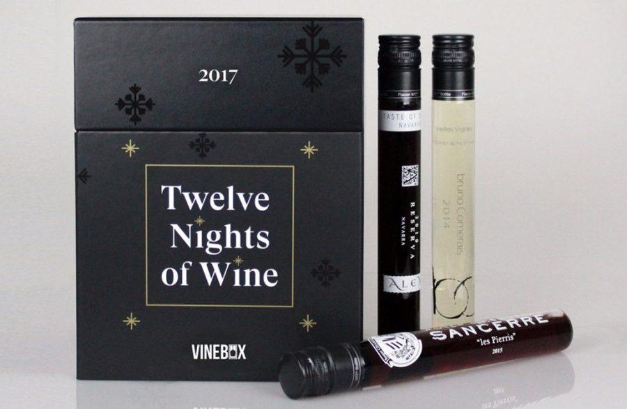 Coolest Advent calendars | vinebox 12 nights of wine Advent calendar