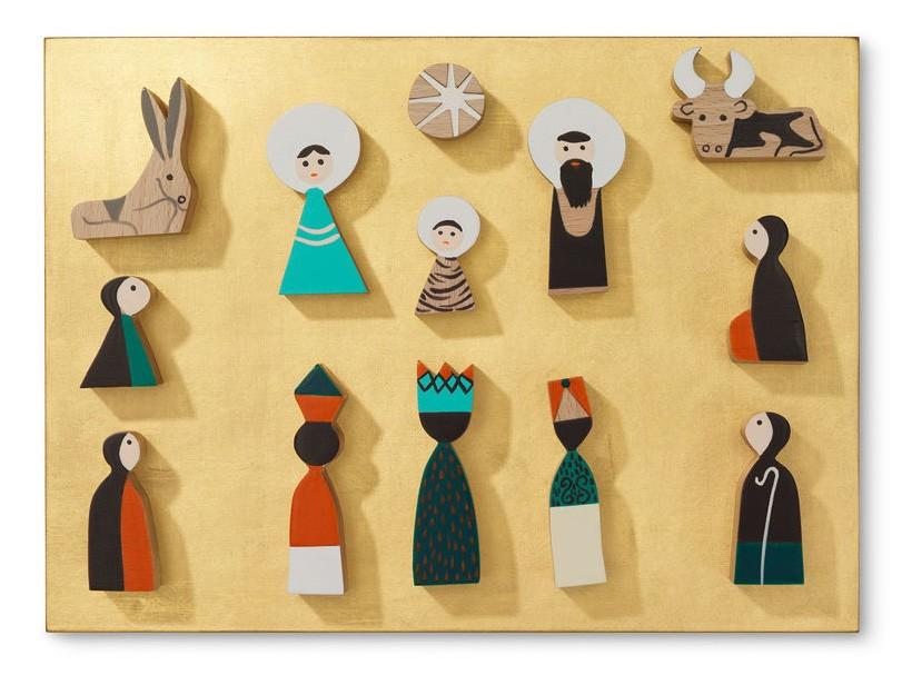 Modern nativity sets: Vitra Nativity Scene by Alexander Girard | Modern Planet