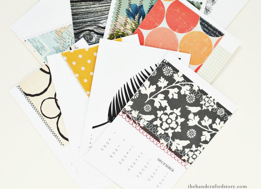 2018 printable calendars: DIY Blank Calendar by The Handcrafted Story