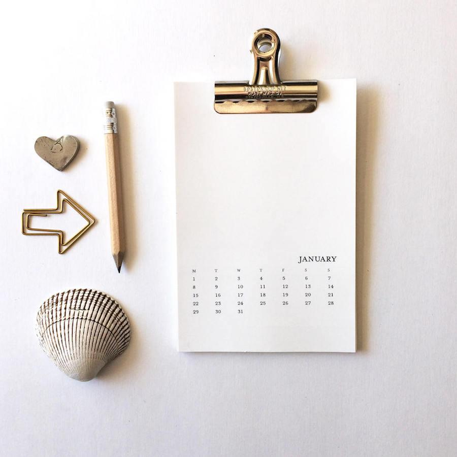 2018 printable calendars: DIY Printable Calendar by The Handcrafted Story