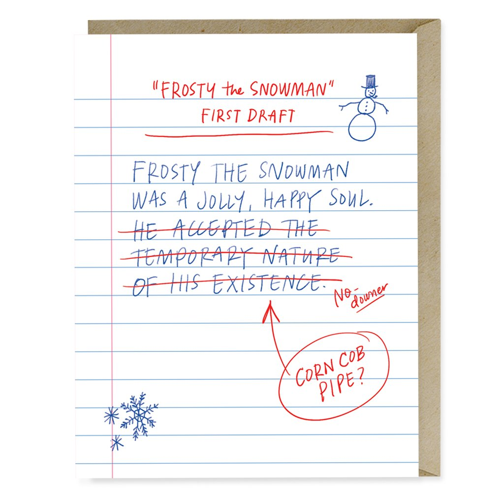 Funniest holiday cards | First Draft Frosty Holiday Card (Emily McDowell)