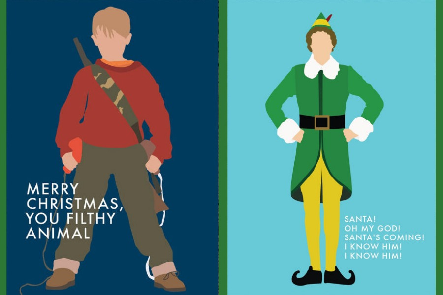 The Coolest Christmas Movie Inspired Holiday Cards Ya