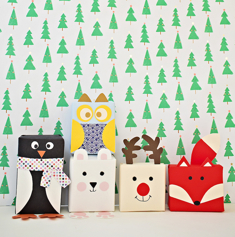 Creative holiday gift wrapping ideas: Animal Gift Wrap by Hello Wonderful