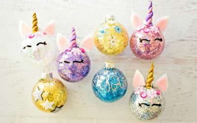 We found the most magical ornament for a last minute Christmas DIY