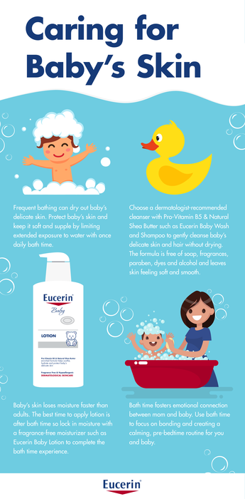 Tips for caring for baby's sensitive skin: An infographic from Eucerin | sponsor