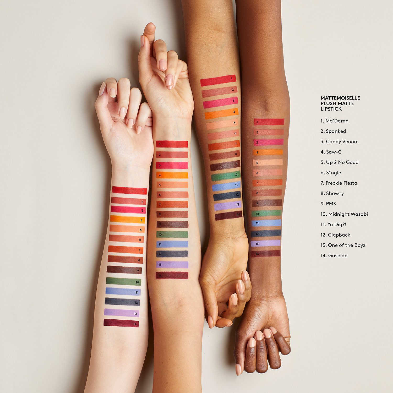 Fenty Beauty's new Mattemoiselle Plush Matte Lipstick in tons of gorgeous colors!