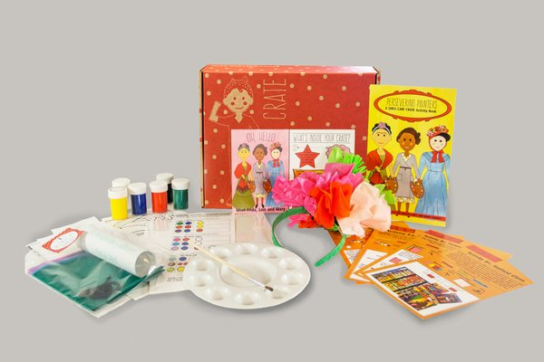 GIRLS CAN! Crate of empowering activities and crafts each month