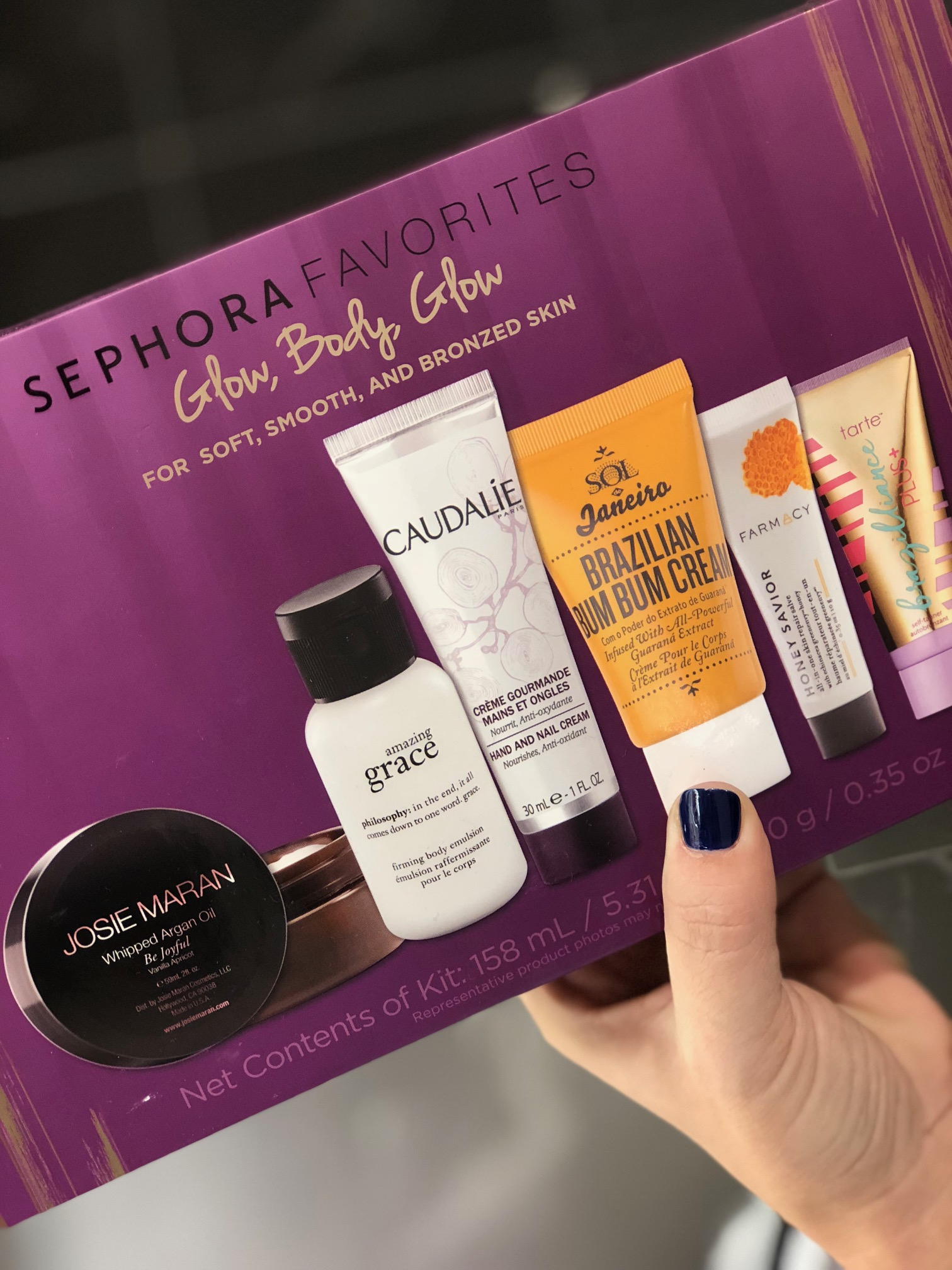 10 last-minute beauty gifts at Sephora in JCPenney Glow Body Blow set | Sponsor