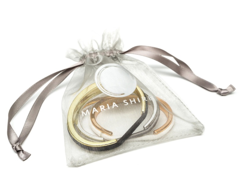 Hair tie bracelets three-pack by Maria Shireen