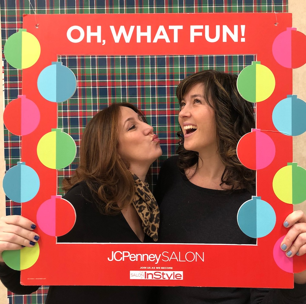 Kristen and Liz from Cool Mom Picks on how to make those sexy curls last longer for all your holiday parties | sponsored by JCPenney Salon