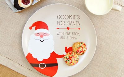 This personalized cookies for Santa plate is magical