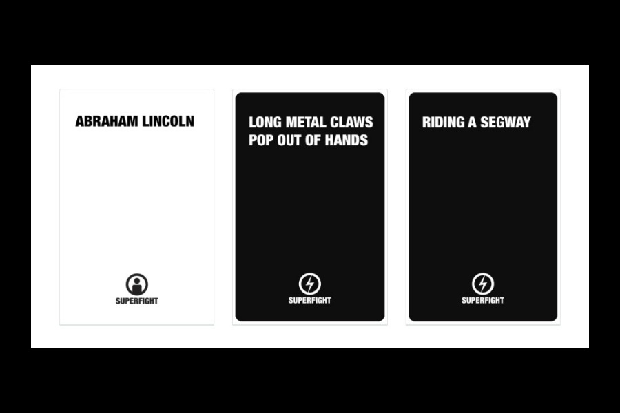 Superfight: The perfect game for people who love to argue. i.e. Families!