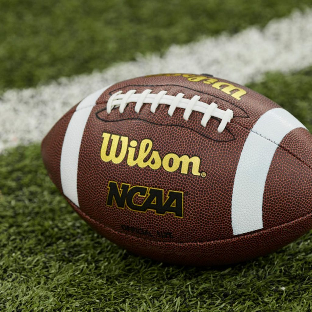 Wilson NCAA Football: One of the gifts you can buy to make the holiday of a US child in need or in foster care through Daymaker