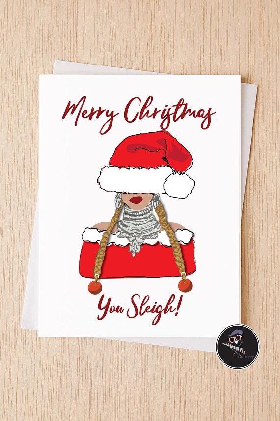 You Sleigh Beyonce Christmas Card