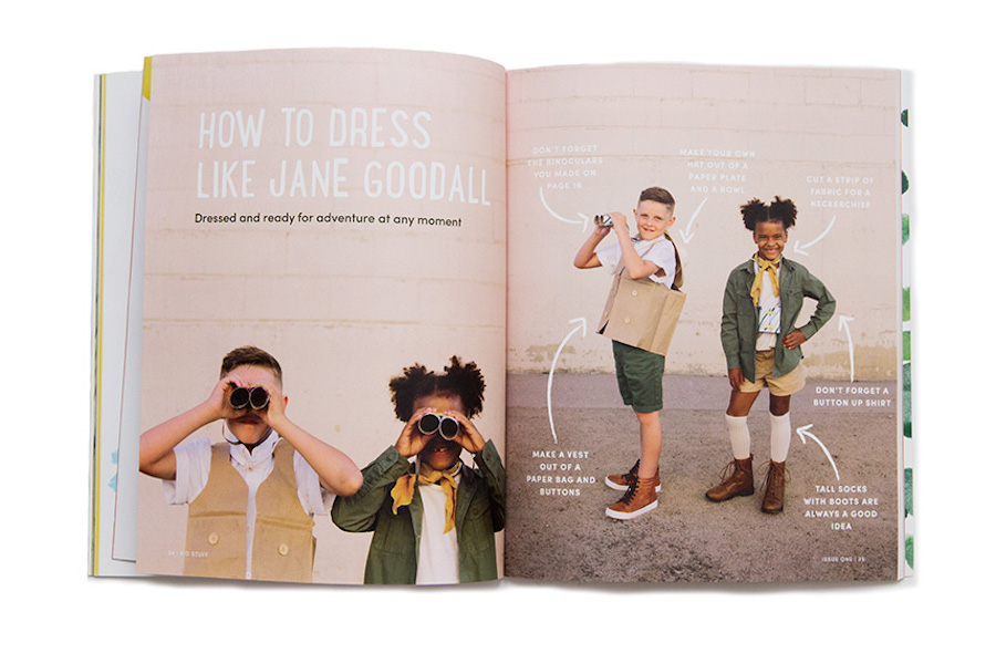 A new magazine inspiring kids to do more than find a new lipstick color.
