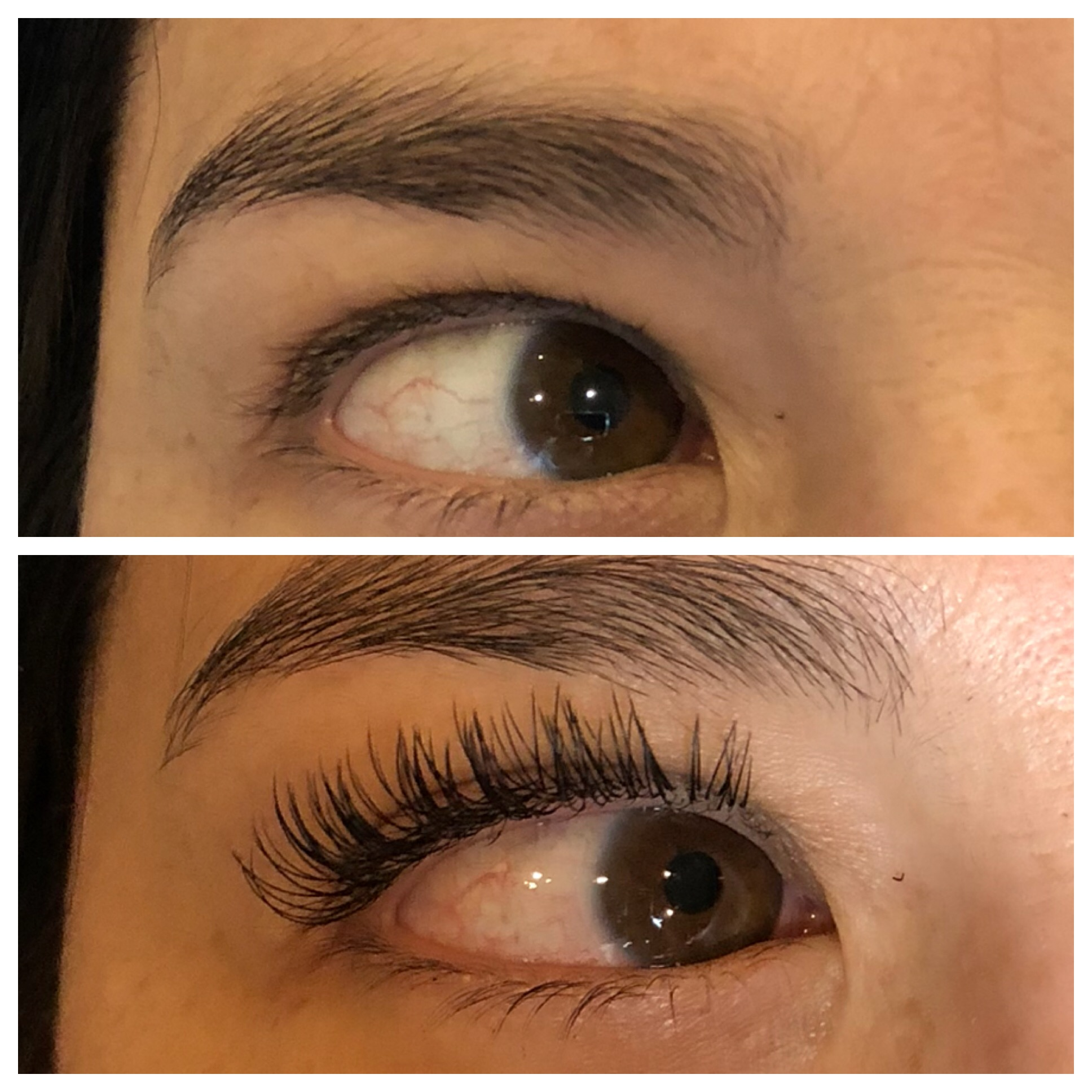 Eyelash extensions before and after | Cool Mom Picks