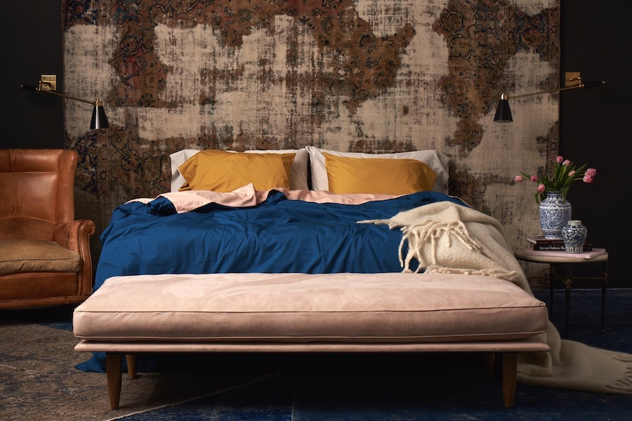 Gorgeous custom-dyed bedding from Flaneur, for the exact right color in your bedroom.