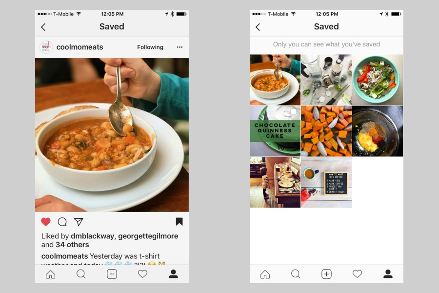 Here's how to use the Saved Photo tab on Instagram | Cool Mom Tech
